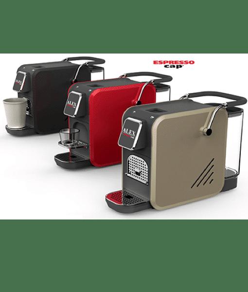 קומבו מכונת קפה אספרסו קאפ אלכס