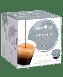קפסולות דולצ'ה גוסטו גימוקה אספרסו דסיסו - Gimoka Espresso Deciso