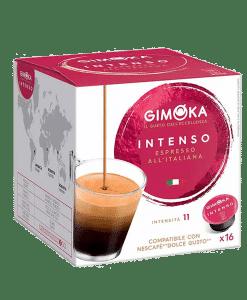 קפסולות דולצ'ה גוסטו גימוקה אספרסו אינטנסו - Gimoka Espresso Intenso