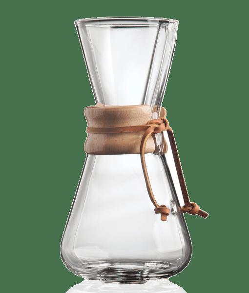 CHEMEX - קנקן פילטר קמקס עם חבק עץ 3 כוסות