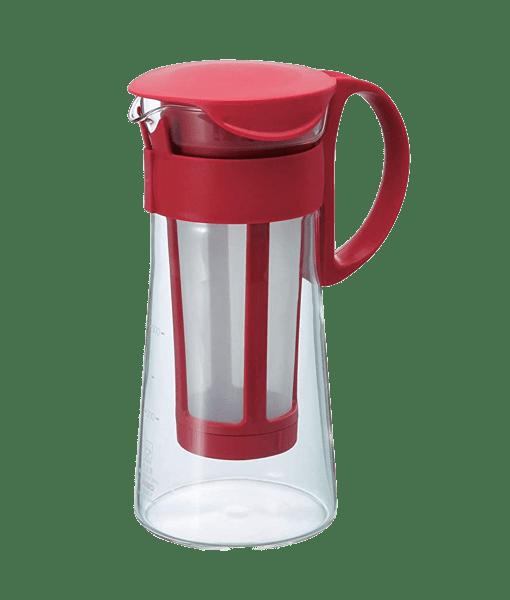 MIZUDASHI HARIO קנקן למיצוי קפה קר בהשרייה - Cold Brew - אדום