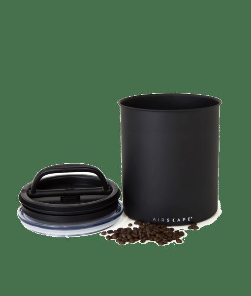 קופסת אחסון קפה AIRSCAPE כ- 1 ק״ג קפה צבע שחור