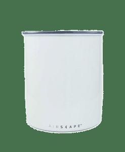 קופסת אחסון קפה AIRSCAPE כ- 1 ק״ג קפה צבע לבן