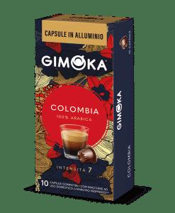 קפסולות אלומיניום Gimoka Colombia קולומביה למכונות נספרסו - 100% ערביקה