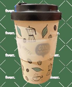 כוס במבוק תרמית אוקולוגית מעוצבת