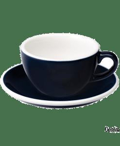 """כוס קפוצ׳ינו וצלוחית 200 מ""""ל Loveramics צבע כחול דנים"""