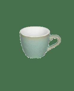 """כוס אספרסו וצלוחית 80 מ""""ל Loveramics צבע ירקרק גרניט"""