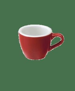 """כוס אספרסו וצלוחית 80 מ""""ל Loveramics צבע אדום"""