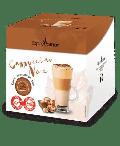 קפסולות למכונות דולצ׳ה גוסטו קפה קפוצ׳ינו אגוזים- אספרסו מור